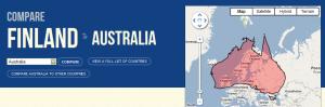 Suomi verrattuna Australiaan