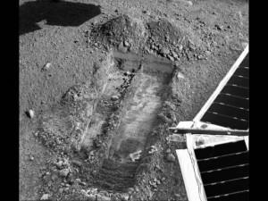 Marsin pintaa kaivettuna